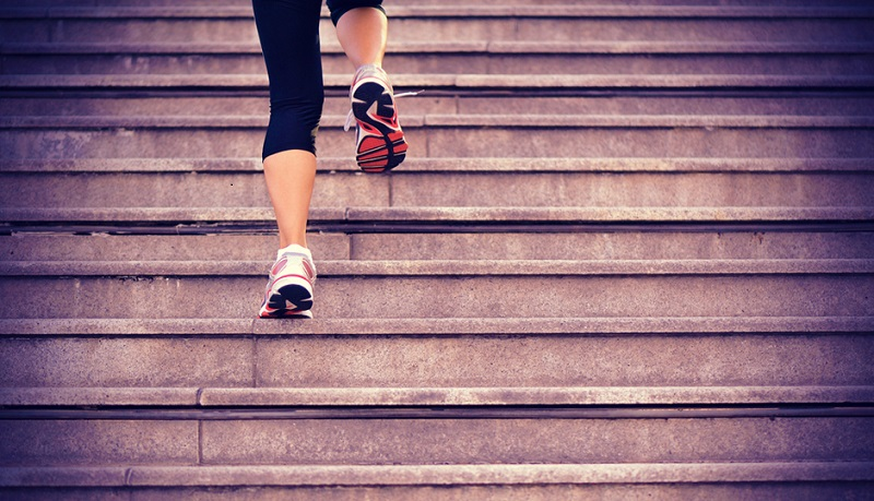 Stair climbing is an exercise to ease labor naturally during pregnancy.